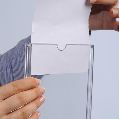Dubbelzijdige menukaarthouder tafelmodel
